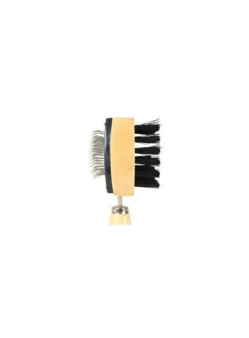 Escova + cardadeira dupla 18x10cm-ECTX2305