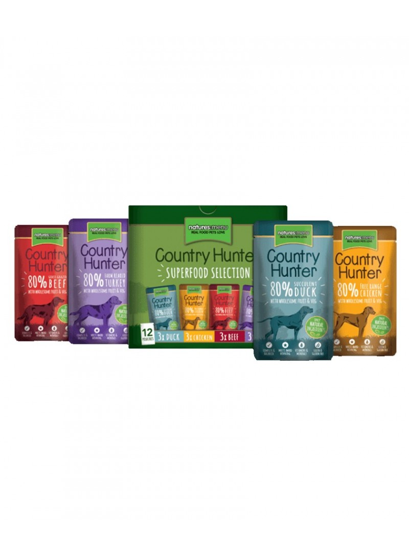 Natures Menu Country Hunter Dog Multipack | Saqueta-NMA1104 (2)