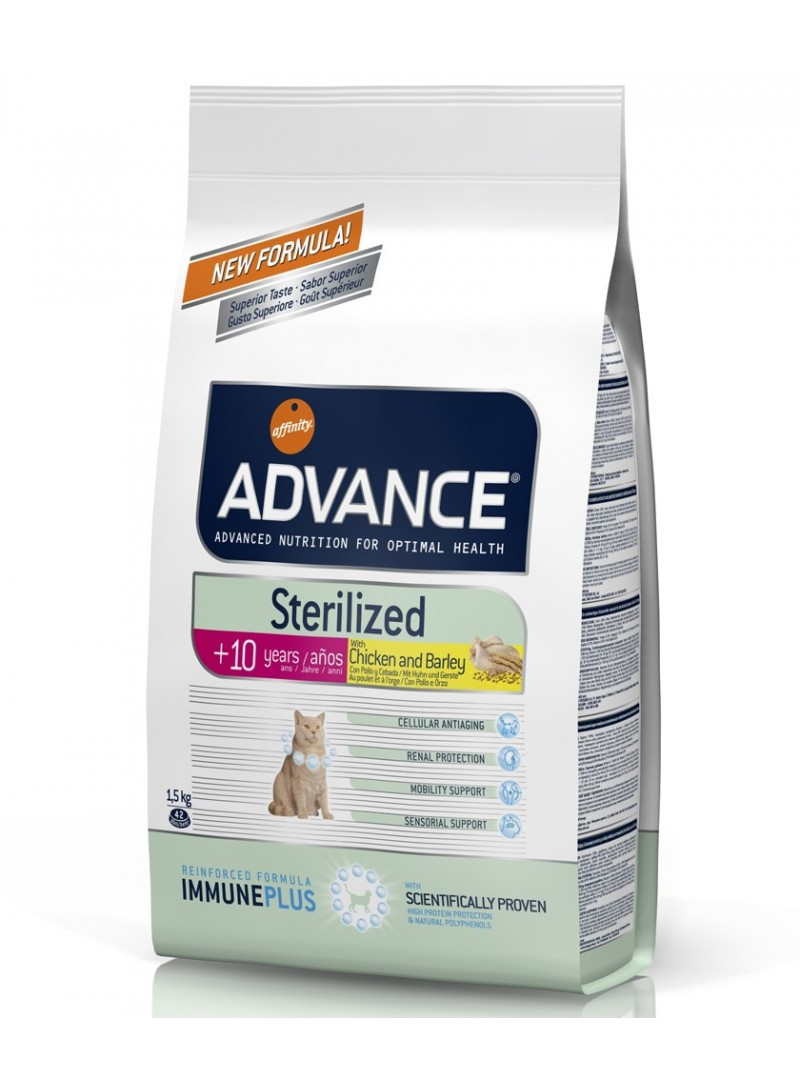 Advance Cat Sterilised +10 Chicken/Barley-AD921508