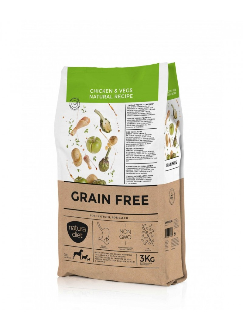 Natura Diet Grain Free Adult Dog-NDGFA170