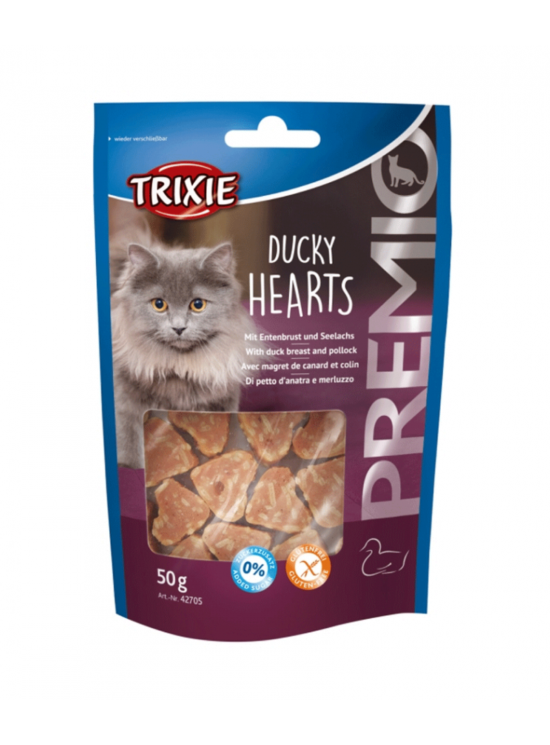 "Trixie Cat Snack ""Premio"" Hearts-TX42705"
