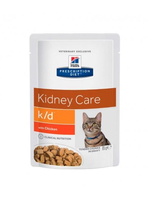Hill's Cat  K/D Kidney Care Chicken     Saqueta-FKDP