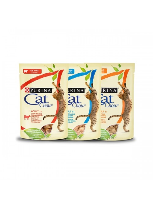 CAT CHOW ADULT - SAQUETA - Borrego - 85gr - P12376325