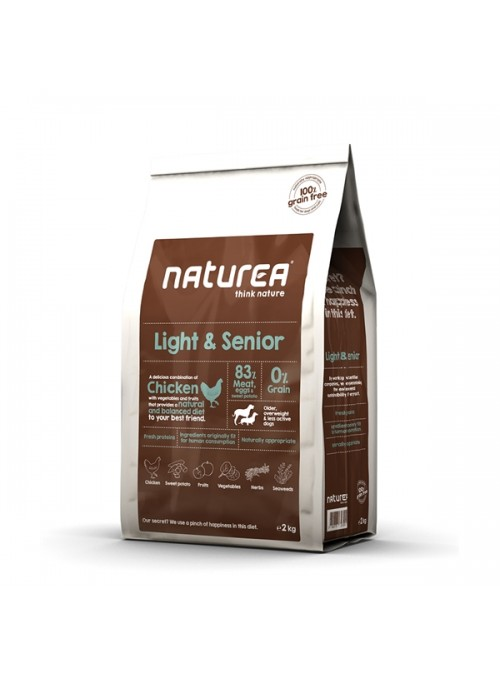 NATUREA LIGHT & SENIOR - 2kg - NALSE02