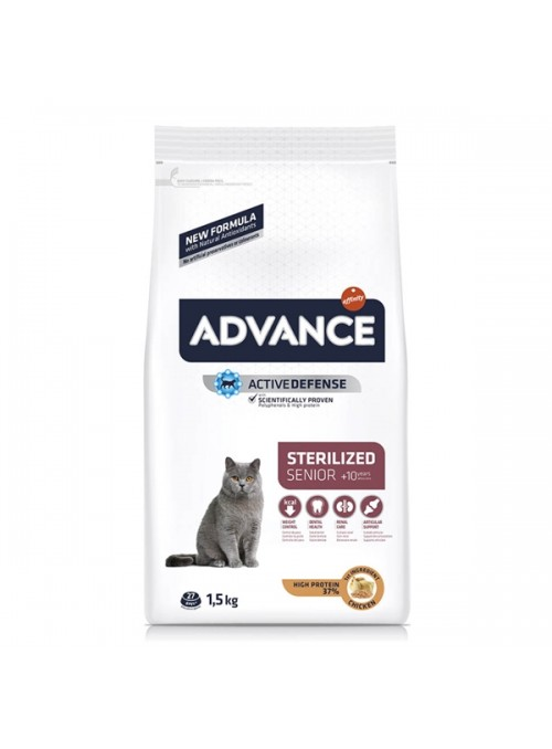 ADVANCE CAT STERILISED +10 CHICKEN/BARLEY - 1,5kg - AD921508
