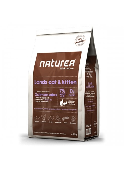 NATUREA LANDS CAT & KITTEN - 350gr - NL00350N