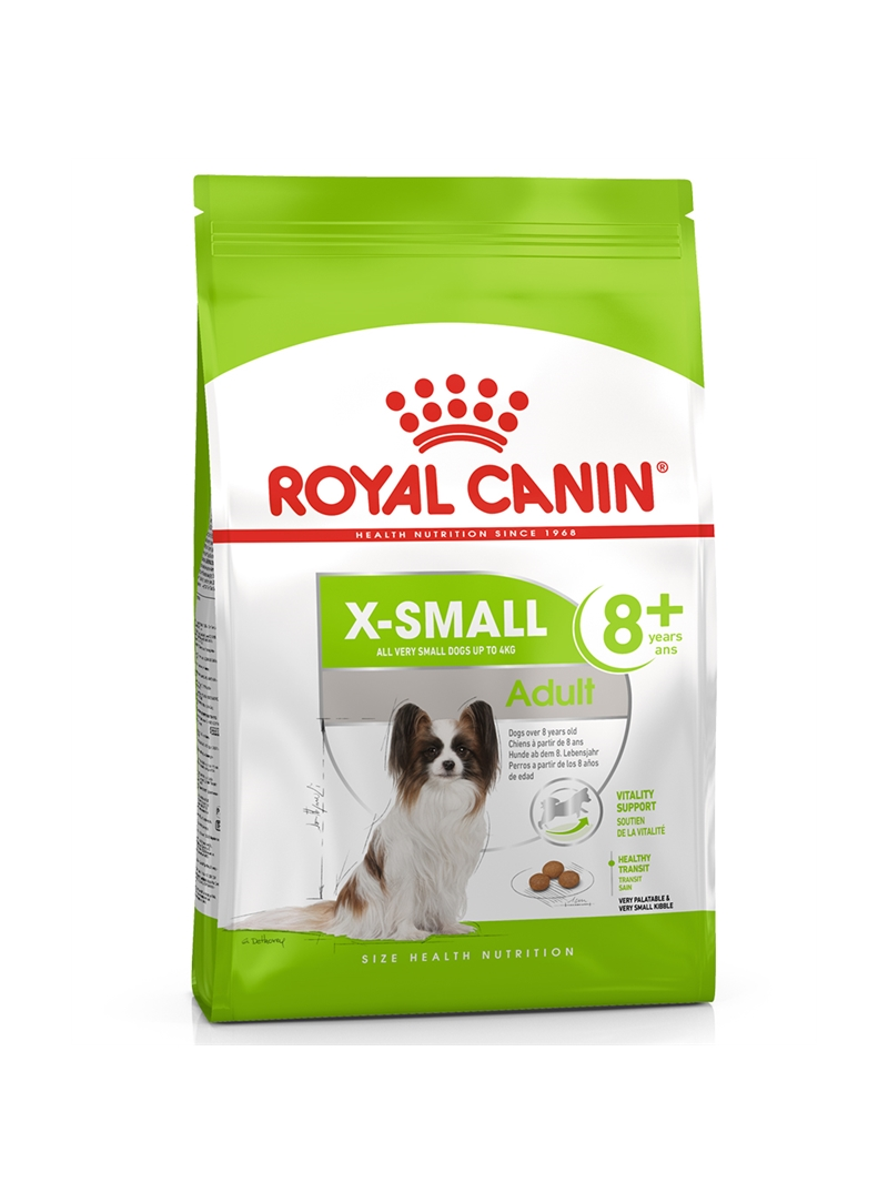ROYAL CANIN X-SMALL ADULT 8+ - 500gr - RCXSA8050