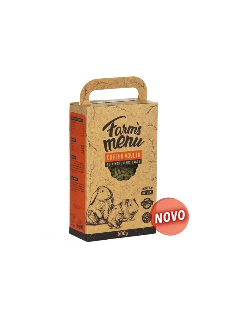 FARMS MENU COELHO ADULTO - 600gr - EXR0155