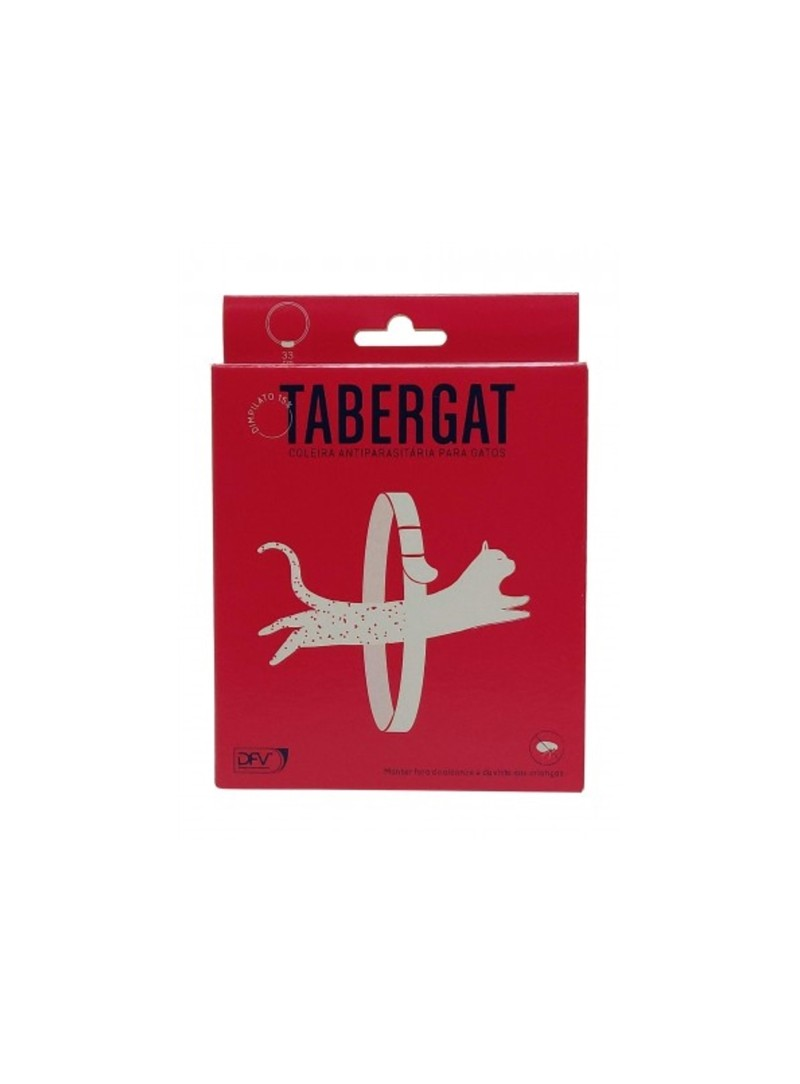 TABERGAT COLEIRA ANTIPARASITÁRIA - TABERG33