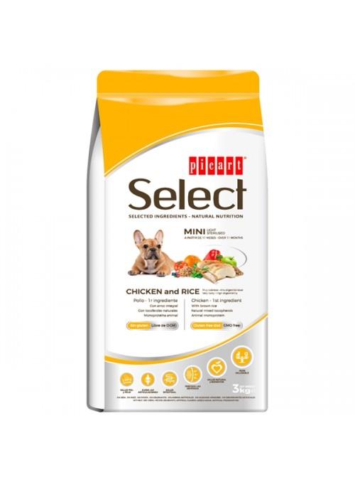 PICART SELECT DOG ADULT MINI LIGHT/STERILISED CHICKEN - 3kg - P52223
